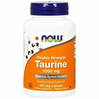 Now Foods TAURINE DOUBLE STRENGTH 1000mg 100 Caps HEALTHY NERVOUS SYSTEM SUPPORT