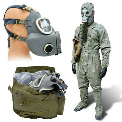 Hazmat Suit Gas Mask Nbc Radiation Russian Chemical Chernobyl Preppers 180 Cm