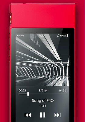 FiiO M7 Portable Hi-Res Bluetooth Lossless Audio Player/FM Radio (Red)