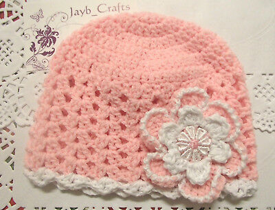 Handmade Crochet Baby Hat in  100% wool  FH326