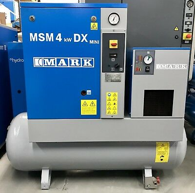 Mark MSM4 Rotary Screw Compressor With Dryer! Immaculate! 4kw Low Hours!