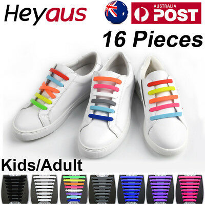 Easy Lazy No Tie Elastic Silicone Shoe Laces Cool Guy Shoelaces  Child/Adult OZ