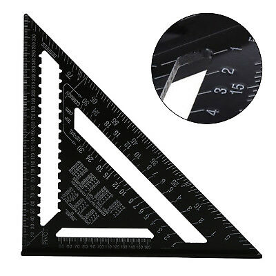 """30Cm 12"""" Roofing Speed Square Aluminium Rafter Angle Measure Triangle Guide 23D"""