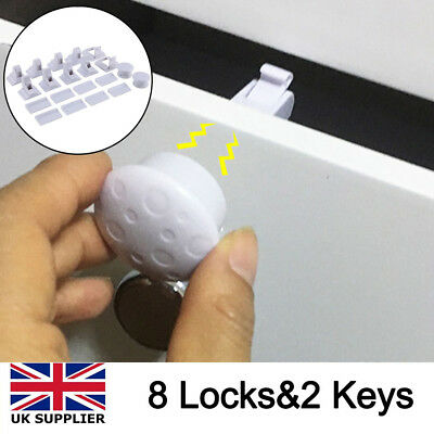 Invisible Magnetic Cupboard Safety Lock Baby Child Pet Proof Door Drawers Kit