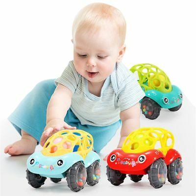 Cute Baby Kids Educational Colorful Rattles Car Toys Kid Hand Bells Toy Gift