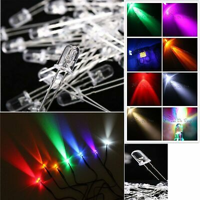 3mm 5mm 2Pin Ultra Bright Water Clear LED Bulb All Colors Light Emittting Diodes