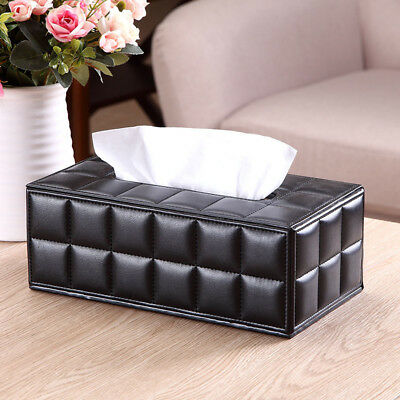 Tissue Case Box PU Leather Durable Household Napkins Papers Dispenser Holder
