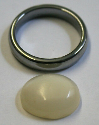 Natural Loose Moonstone 12X15Mm Oval 5Mm Tall Cabochon 7.6Ct Mu24