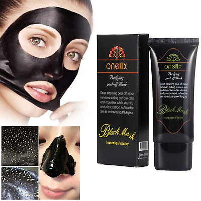 New Charcoal Activated Black Face Mask Blackhead Remover Peel-Off Facial Black