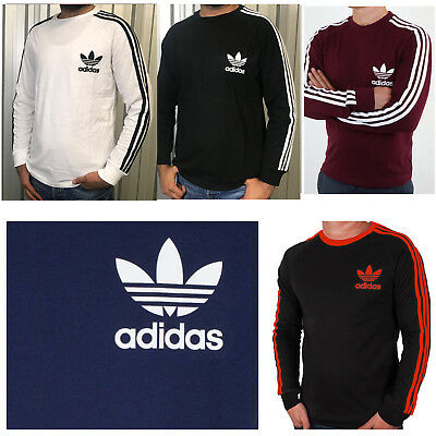 ADIDAS PIQUE LONG SLEEVED 3 STRIPES T-SHIRT Tops