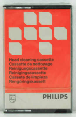 Vintage Philips Audio Tape Head Cleaning Cassette 811 Cct (Reinigung, Nettoyage)