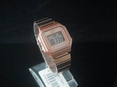 CASIO Rose Gold Digital Stainless Steel Watch B650WC-5 100% Original NIB & Gift