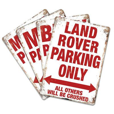 Vehicle Parking Warnings - Metal Wall Plaque Art - Car Truck Van Private Home