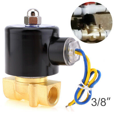 Solenoid Valve DC 12V 3/8''  NPT N/C Brass NC for Water Oil Air Diesel-Gas Fuels