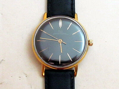 LUCH gold plated Cal.2209 USSR vintage men's mechanical wristwatch