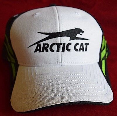 White Black Green ARCTIC CAT Hat  5269-805 Velcro back Dealer NEW Air one size