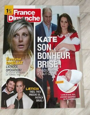Affiche/Poster publicitaire Presse France Dimanche : Kate et William /80x60 cm