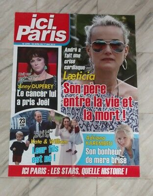 Affiche/Poster Presse Ici Paris : Kate et William , Laeticia Hallyday/80x60 cm