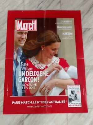 Affiche/Poster publicitaire Presse Paris Match  : Kate et William /80x60 cm