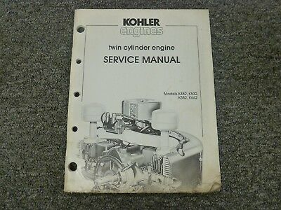 Kohler K482 K532 K582 K662 Twin Cylinder Engine Shop Service Repair Manual