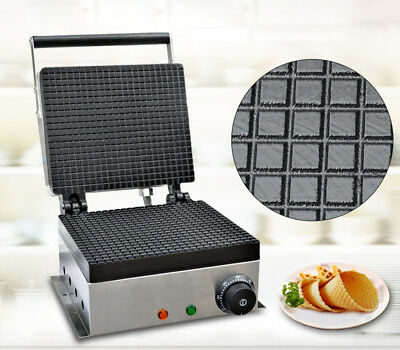 Electric Stainless Ice Cream Cone Egg Roll Maker Crispy Waffle Making Machine