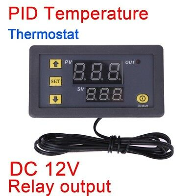 12v digital PID thermostat Temperaturregler controller Temperaturfühler switch