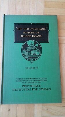 The Old Stone Bank 1944 History Of Rhode Island Collectible Book-Great Condition