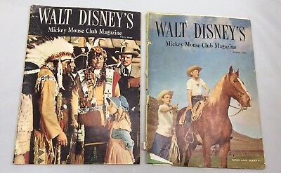 Lot of 2 Walt Disney's Mickey Mouse Club Magazines Fall & Spring 1956