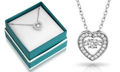 Sophia Lee's Dancing Cubic Zirconia Heart Necklace