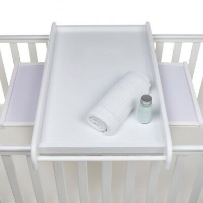 Tutti Bambini Universal Cot Top Changer with Side Shelves - White