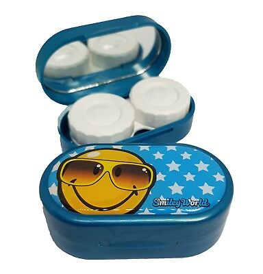 Smiley Emoji Mirror Case Contact Lens Soaking Storage Case UK MADE - Summer Rdy