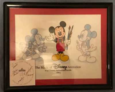 Magic of Disney Animation Mickey Mouse hand painted cel WDW framed art