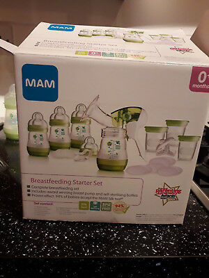 MAM Breastfeeding Starter Set + Extras. Complete and Very Good Condition.