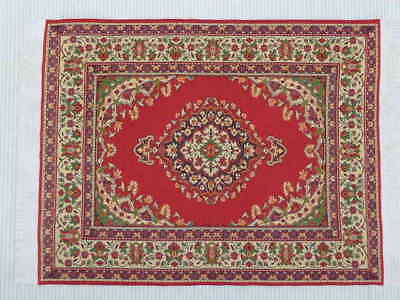 "Dolls House Miniature 1:12 Scale Woven Turkish Rug 10 1/8"" x 7"" Super Design (Q)"