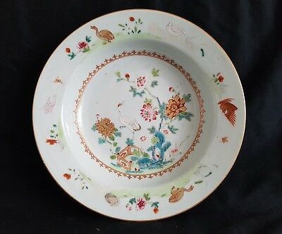 Antique Chinese 18th Century Famille Rose Plate Charger Qianlong period