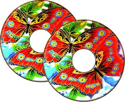 Wheelchair Spoke Guards Stickers BUTTERFLY PAINTING Custom Design