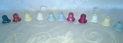 Vintage Tiny Mica Metal Christmas Bells Package Decorations Ornaments $6.99
