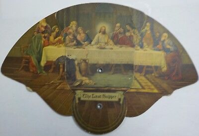 "F. A. Bennighoff Coal Dealer Allentown, PA. Ad Fold Out Fan / ""The Last Supper"""