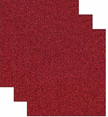 Siser Glitter Heat Transfer Vinyl HTV for T-Shirts 10 by 12 Inches 1 Foot Sheets