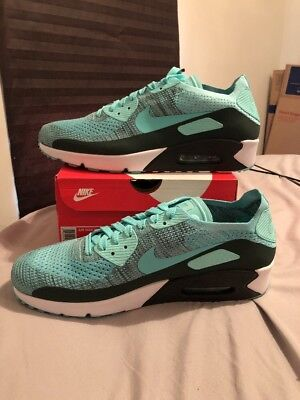 best loved 3a25c d3343 Mens Nike Air Max 90 Ultra 2.0 Flyknit 875943-301 Hyper Turq Brand New Size
