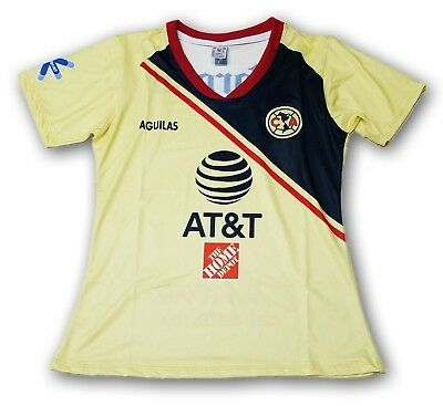 09dc8742737 Club America Women s Home Soccer Jersey 2018 Slim Fit 100% Polyester FMF
