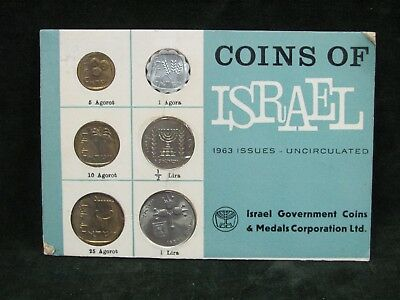 1963 Uncirculated Coins of Israel Six Coin Set
