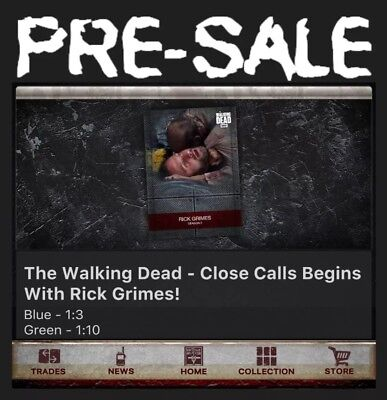 Presale-Close Calls-Blue+Green-10 Card Set-Topps Walking Dead Card Trader