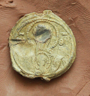 Ancient Byzantine lead Seal D=23mm 12g.