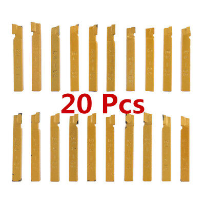 "20pcs 1/4""Carbide Tip Tipped Lathe Metal Cutter Bit Turning Milling Cutting Tool"