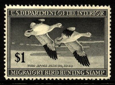 US Scott RW14 Snow Geese Duck stamp VF-XF Centering Mint NH