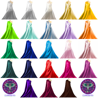 Premium Quality Budget Satin Silky Polyester Shiny Bridal Fabric Material BS01