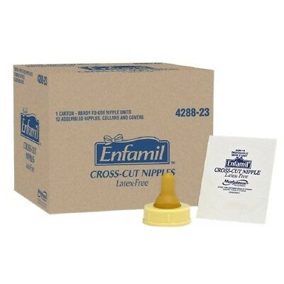 Enfamil Cross Cut Soft Nipples - Latex-Free & BPA Free, Pack of 12