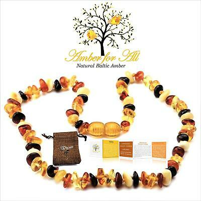 Amber Baby Necklace Unisex Teeth Pain Reduce Natural Relief Anti Flammatory