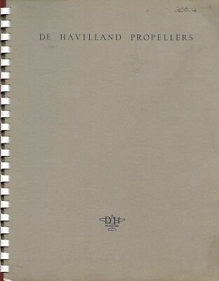 De Havilland Propellers - Technical Literature On All De Havilland Propellers.